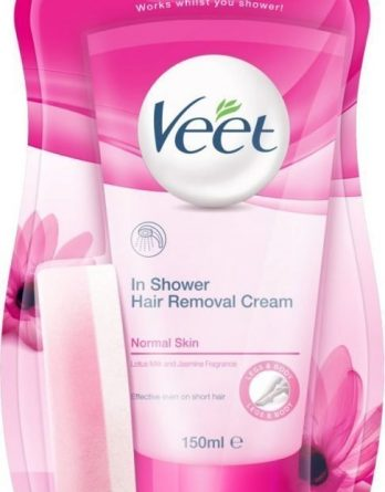-50% Veet In Shower Hair Removal Cream 150 ml Normaalille Iholle