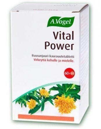A. Vogel Vital Power ruusunjuuri-kaurauutetabletit