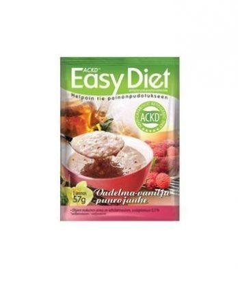 ACKD Easy Diet Vadelma-vaniljapuuro 15 kpl (laatikko)