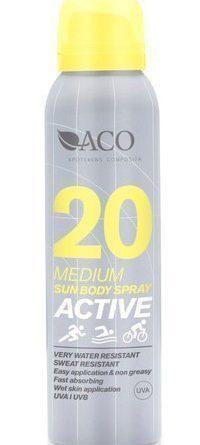 ACO Active Sun Body Spray SPF 20 125 ml