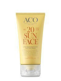 ACO Light Touch Mattifying Face Sun Cream SPF 20 50 ml