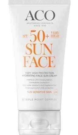 ACO Sun Hydrating Face Sun Cream SPF 50+ 50 ml