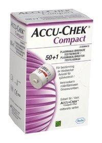 Accu-Chek Compact plus testiliuskasylinterit 51 kpl
