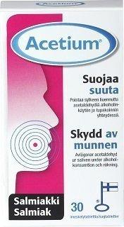 Acetium Imeskelytabletti Salmiakki 30 kpl