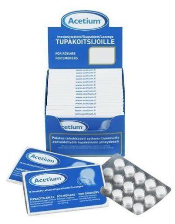 Acetium Tupakoitsijoille 15 imeskelytabl.