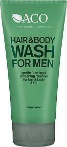 Aco For Men Hair & Body Wash 200 ml Hajustettu