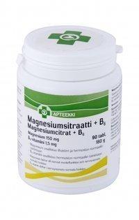 Apteekki Magnesiumsitraatti + B6 90 tablettia