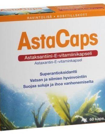 AstaCaps astaksantiini-E-vitamiinikapselit