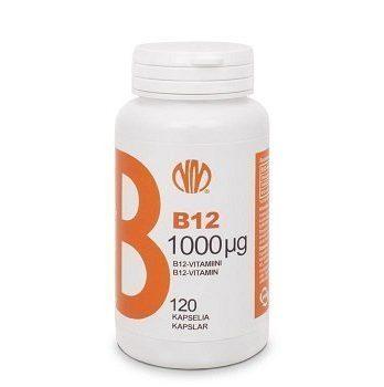 B-12 Vitamiini 1000 µg 120 kasvikapselia.