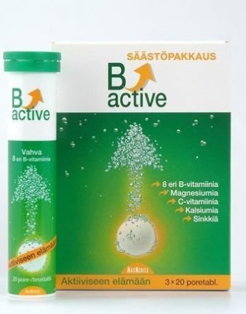 B-active poretabletti 3-pack