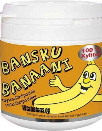Bansku Banaani 150 täysksylitollipastillia