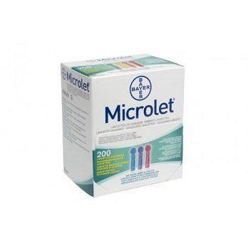 Bayer Microlet -lansetit 200 kpl