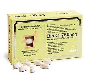 Bio-C-Vitamin 750 mg 120 tabl.