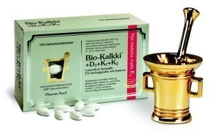 Bio-Kalkki + D3 + k1 + K2 150 tablettia