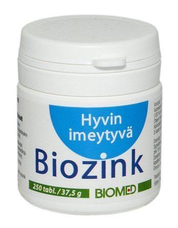 Biomedin Biozink sinkkiaminohappokelaatti 250 tabl.