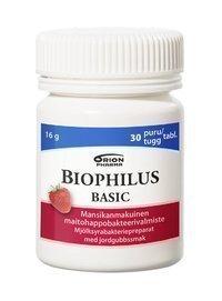 Biophilus Basic Mansikka 30 purutablettia *
