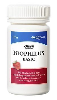 Biophilus Basic Mansikka 60 purutablettia *