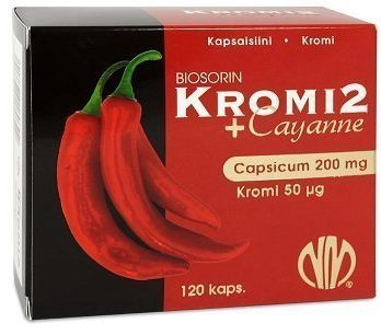 Biosorin Kromi2 chiliuute + Cayanne 120 kapselia