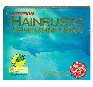 Bioteekin Hainrusto + Vihersimpukka 20 kaps.