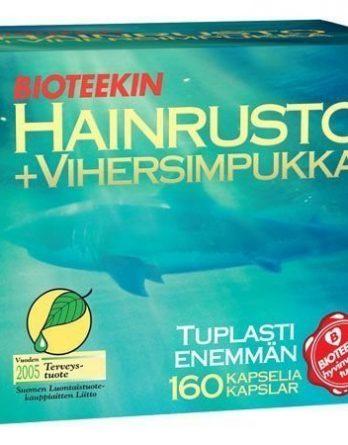 Bioteekin Hainrusto+Vihersimpukka 160 kaps