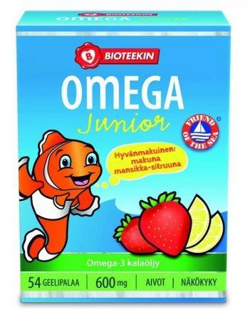 Bioteekin Omega-3 600 mg Junior 54 geelipalaa