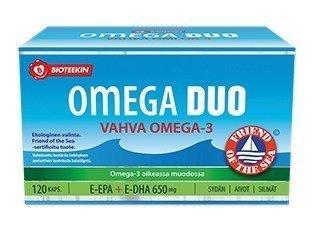 Bioteekin Omega Duo Vahva Omega-3 120 kaps.
