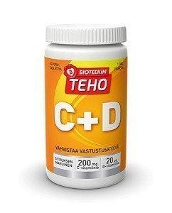 Bioteekin Teho C + D 80 purutablettia