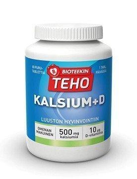 Bioteekin Teho Kalsium + D 80 purutablettia