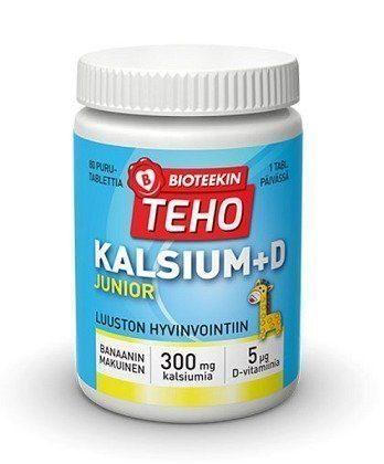 Bioteekin Teho Kalsium + D Junior 80 purutablettia