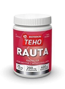 Bioteekin Teho Rauta 60 kapselia