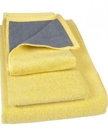 Brands Scandinavia B3-vieraspyyhe 50 x 30 cm keltainen ja harmaa