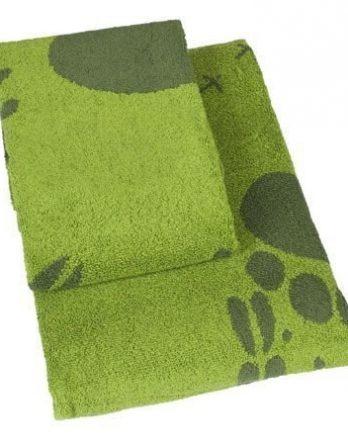 Brands Scandinavia Steps-kasvopyyhe 50 x 70 cm vihreä