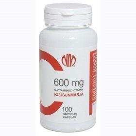 C-Vitamiini 600 mg Ruusunmarja 100 kapselia