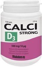 Calci Strong + D3-vitamiini 150 tabl.