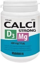 Calci Strong + magnesium + D3 150 tabl