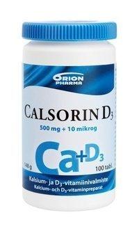 Calsorin D3 500 mg + 10 µg 100 tablettia *