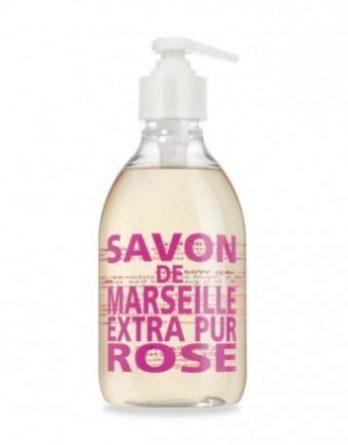 Compagnie De Provence Nestemäinen Marseille-saippua 300 ml Wild Rose