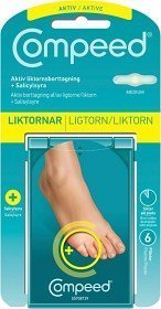 Compeed Aktiv Liikavarpaanpoisto + Salisyylihappo 6 kpl