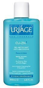 Cu-Zn+ Gel Rauhoittava puhdistusgeeli 200 ml Uriage