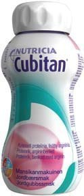 Cubitan täydennysravintovalmiste 200 ml MANSIKKA