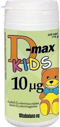 D-max 10 µg 200 purutabl. KIDS