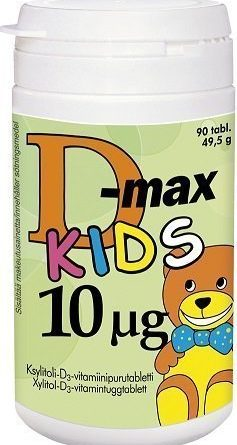 D-max 10 µg 90 purutabl. KIDS