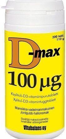 D-max 100 µg 200 purutabl.