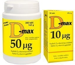 D-max 50 µg 90 purutabl.