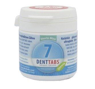 Denttabs Fluori Hampaidenpesutabletit Stevia-Mint 125 tbl.