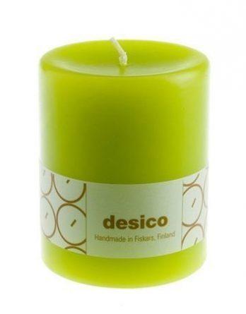 Desico Pöytäkynttilä 10 cm limetinvihreä 6 kpl