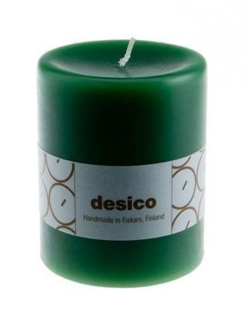 Desico Pöytäkynttilä 10 cm vihreä 6 kpl