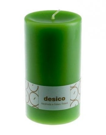 Desico Pöytäkynttilä 14 cm vaaleanvihreä 3 kpl