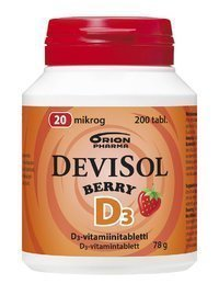 DeviSol Berry 20 µg 200 tablettia *