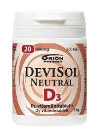 DeviSol Neutral 20 µg 200 tablettia *